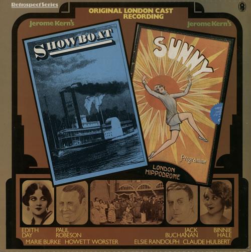 Jerome Kern Showboat And Sunny vinyl LP album (LP record) UK JZSLPSH566915
