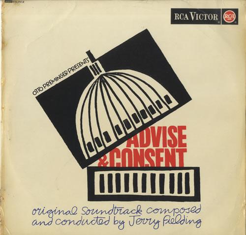 Jerry Fielding Advise And Consent vinyl LP album (LP record) UK J2TLPAD521504