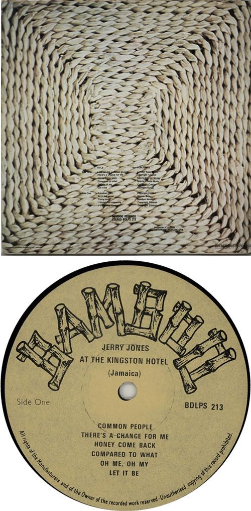 Jerry Jones At The Kingston Hotel vinyl LP album (LP record) UK K77LPAT642890
