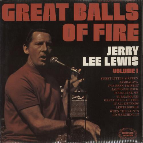 Jerry Lee Lewis Great Balls Of Fire - Volume 1 vinyl LP album (LP record) Canadian JLLLPGR768576