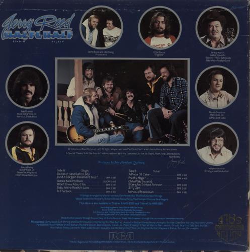 Jerry Reed Half Singin' & Half Pickin' vinyl LP album (LP record) US JPVLPHA759446