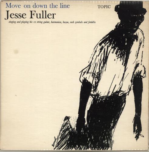 Jesse Fuller Move On Down The Line vinyl LP album (LP record) UK JLRLPMO696368
