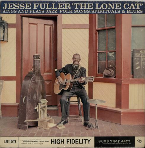 Jesse Fuller The Lone Cat vinyl LP album (LP record) UK JLRLPTH527508