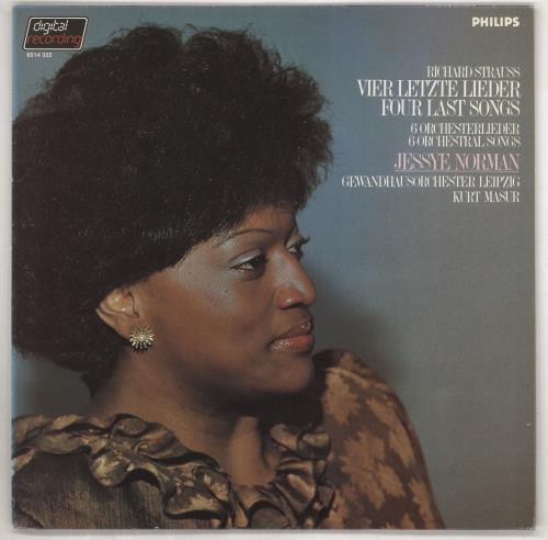 Jessye Norman Richard Strauss: Vier Letzte Lieder / 6 Ochesterlieder vinyl LP album (LP record) Dutch K8VLPRI737712
