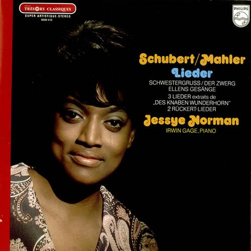 Jessye Norman Schubert / Mahler - Lieder/ Songs vinyl LP album (LP record) French K8VLPSC533400