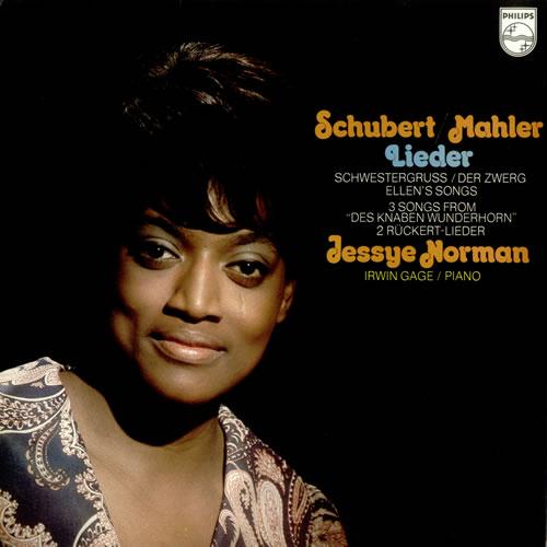 Jessye Norman Schubert / Mahler - Lieder/ Songs vinyl LP album (LP record) UK K8VLPSC535097