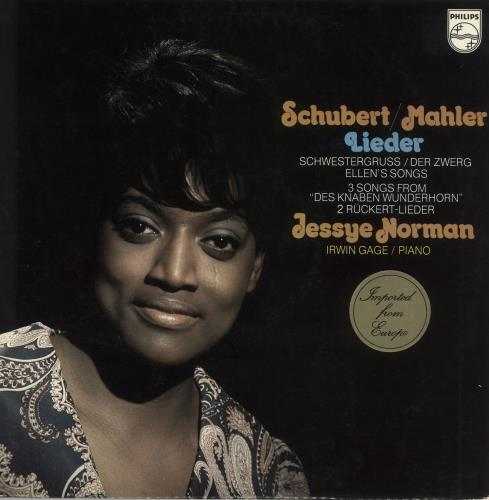 Jessye Norman Schubert / Mahler - Lieder/ Songs vinyl LP album (LP record) Dutch K8VLPSC731066