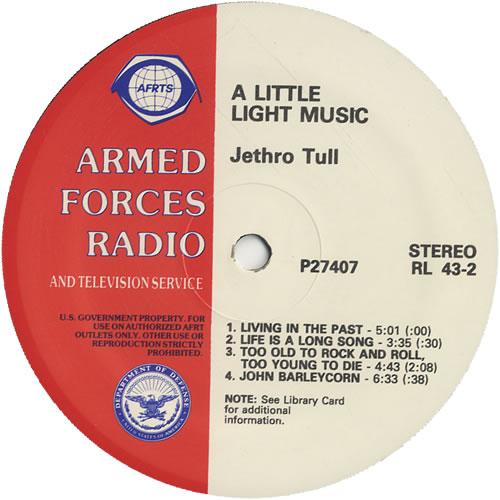 Jethro Tull A Little Light Music vinyl LP album (LP record) US TULLPAL514095