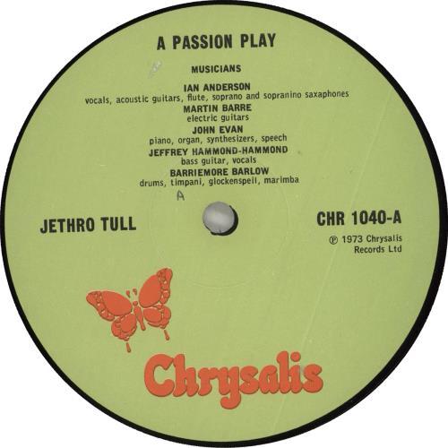 Jethro Tull A Passion Play - 1st vinyl LP album (LP record) UK TULLPAP712605