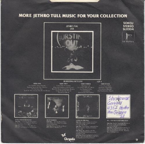 "Jethro Tull A Stitch In Time 7"" vinyl single (7 inch record) Yugoslavian TUL07AS652493"
