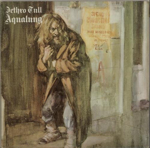 Jethro Tull Aqualung - Blue & White vinyl LP album (LP record) German TULLPAQ514962