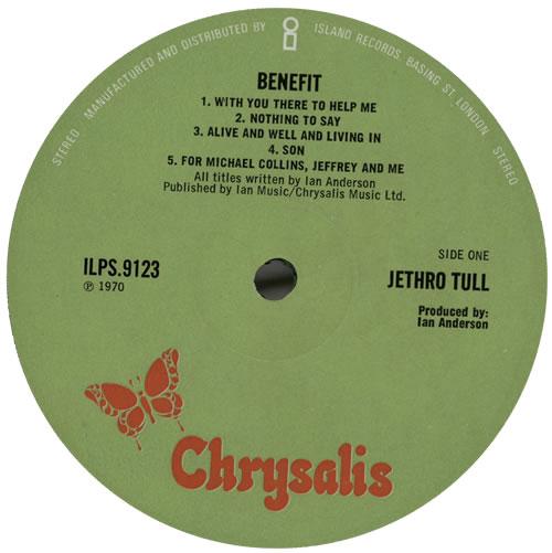 Jethro Tull Benefit - 2nd - EX vinyl LP album (LP record) UK TULLPBE577620