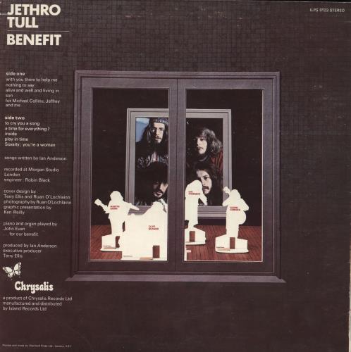 Jethro Tull Benefit - 2nd vinyl LP album (LP record) UK TULLPBE61482