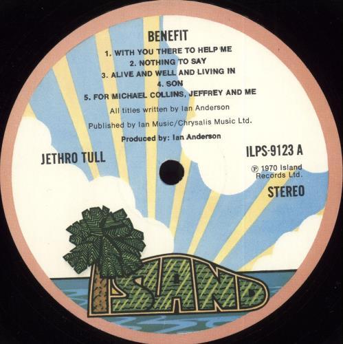 Jethro Tull Benefit - 3rd - VG vinyl LP album (LP record) UK TULLPBE708365