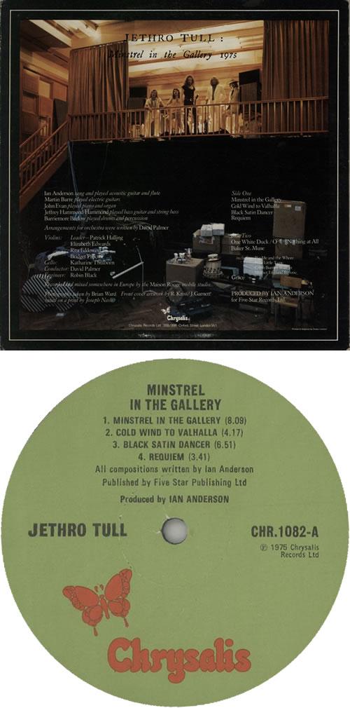 Jethro Tull Minstrel In The Gallery - 1st - EX vinyl LP album (LP record) UK TULLPMI638149