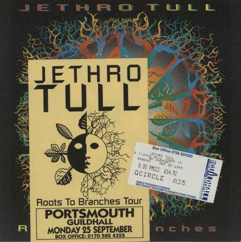 Jethro Tull Roots To Branches + Ticket Stub & Flyer tour programme UK TULTRRO655116