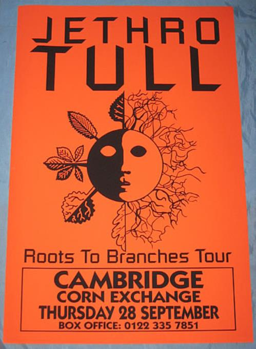 Jethro Tull Roots To Branches poster UK TULPORO354338