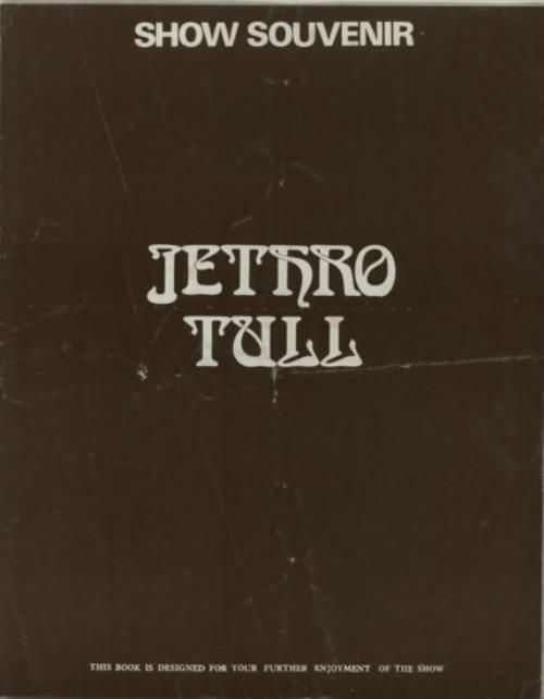 Jethro Tull Show Souvenir tour programme UK TULTRSH585527