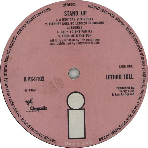 Jethro Tull Stand Up - 3rd - VG vinyl LP album (LP record) UK TULLPST643925