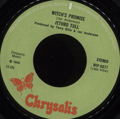 """Jethro Tull The Witch's Promise - 1st - P/S - WOS 7"""" vinyl single (7 inch record) UK TUL07TH629586"""