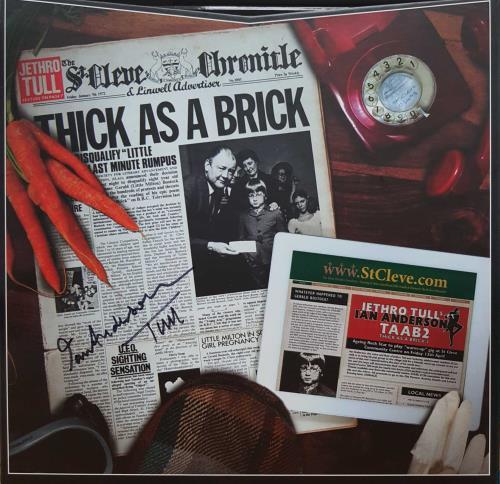 Jethro Tull Thick As A Brick 1 & 2 - Signed Vinyl Box Set UK TULVXTH707705