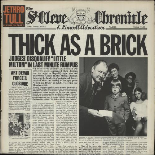 Jethro Tull Thick As A Brick vinyl LP album (LP record) Spanish TULLPTH662125