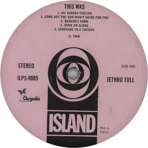 Jethro Tull This Was - 3rd - VG vinyl LP album (LP record) UK TULLPTH664653
