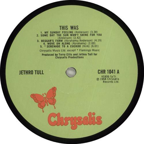 Jethro Tull This Was - Laminated vinyl LP album (LP record) UK TULLPTH712508