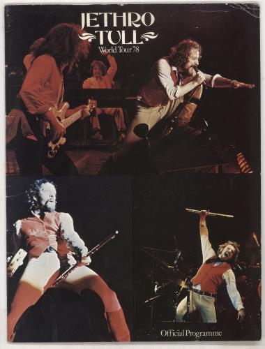 Jethro Tull World Tour 78 - Autographed tour programme UK TULTRWO728660