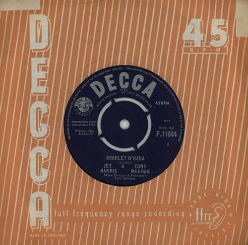 """Jet Harris & Tony Meehan Scarlet O'Hara 7"""" vinyl single (7 inch record) UK JA407SC269875"""