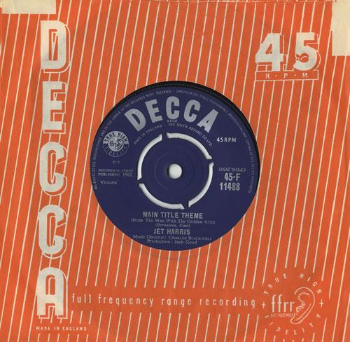 "Jet Harris Main Title Theme 7"" vinyl single (7 inch record) UK JHA07MA272893"
