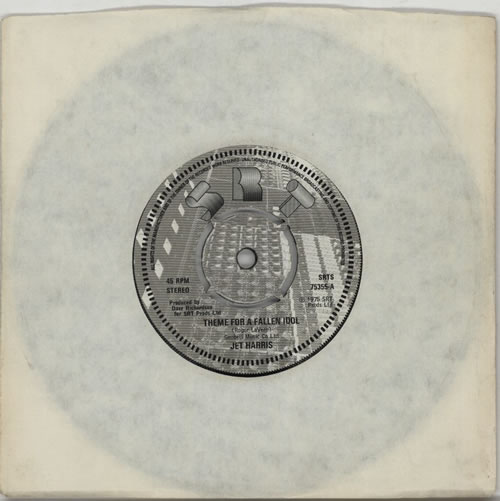 "Jet Harris Theme For A Fallen Idol 7"" vinyl single (7 inch record) UK JHA07TH269964"