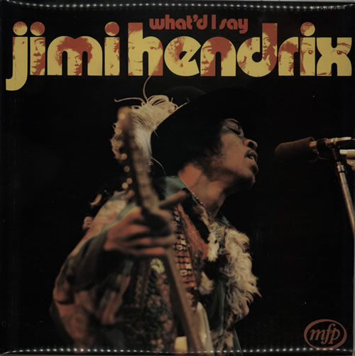Jimi Hendrix What'd I Say - Front Laminated vinyl LP album (LP record) UK HENLPWH578605