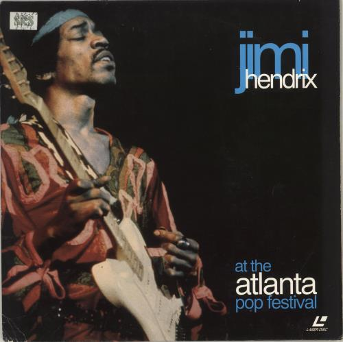 Jimi Hendrix At The Atlanta Pop Festival laserdisc / lazerdisc UK HENLZAT706544