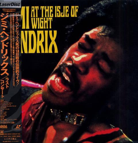 Jimi Hendrix At The Isle Of Wight laserdisc / lazerdisc Japanese HENLZAT194219