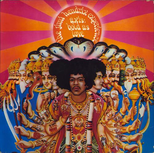 Jimi Hendrix Axis: Bold As Love - 1st + Insert - VG+/EX- vinyl LP album (LP record) UK HENLPAX334697