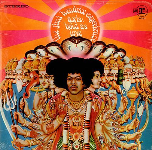 Jimi Hendrix Axis: Bold As Love - T/L Sticker vinyl LP album (LP record) US HENLPAX421804