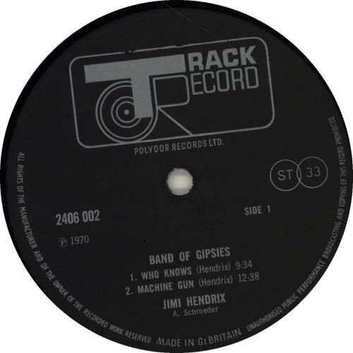 Jimi Hendrix Band Of Gypsys - 2nd - EX vinyl LP album (LP record) UK HENLPBA350734