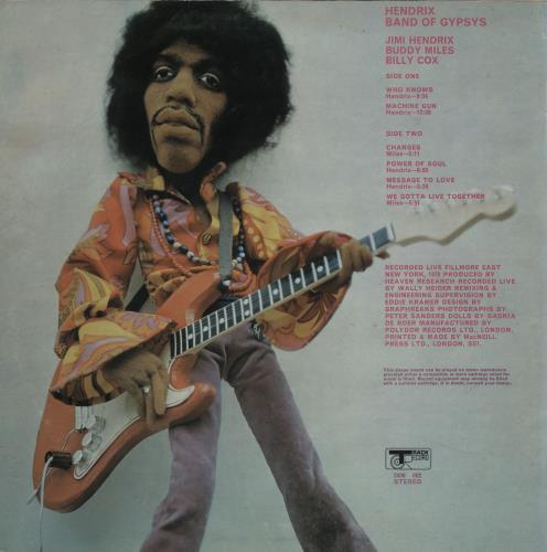 Jimi Hendrix Band Of Gypsys - Puppet - EX vinyl LP album (LP record) UK HENLPBA739335