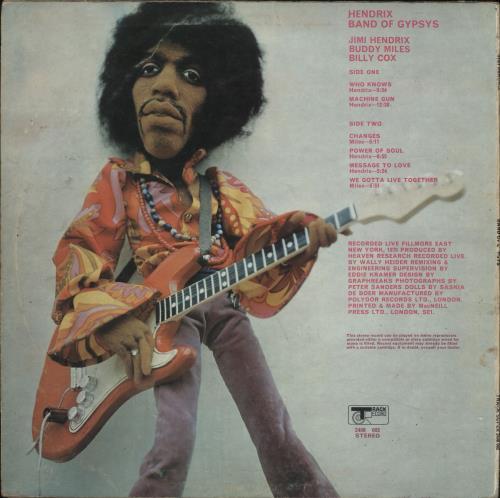 Jimi Hendrix Band Of Gypsys - Puppet - VG - woc vinyl LP album (LP record) UK HENLPBA434356