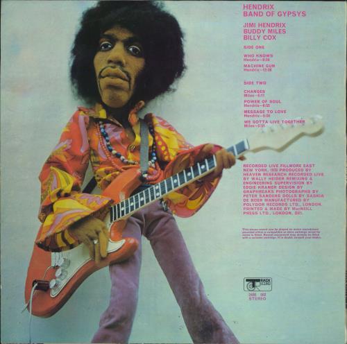 Jimi Hendrix Band Of Gypsys - Puppet vinyl LP album (LP record) UK HENLPBA105277