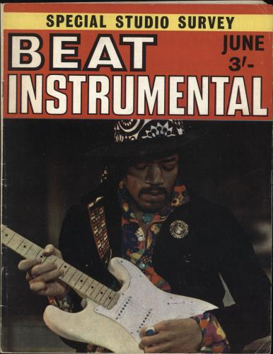 Jimi Hendrix Beat Instrumental No. 74 magazine UK HENMABE740424