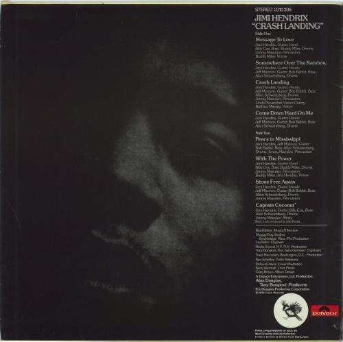 Jimi Hendrix Crash Landing vinyl LP album (LP record) German HENLPCR770893