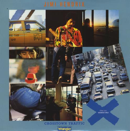 "Jimi Hendrix Crosstown Traffic 7"" vinyl single (7 inch record) UK HEN07CR406841"