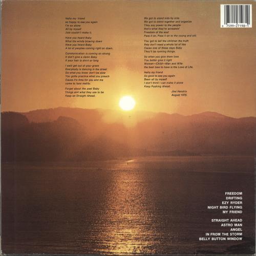Jimi Hendrix Cry Of Love vinyl LP album (LP record) US HENLPCR691934