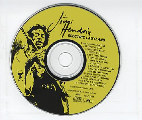 Jimi Hendrix Electric Ladyland CD album (CDLP) Japanese HENCDEL315365