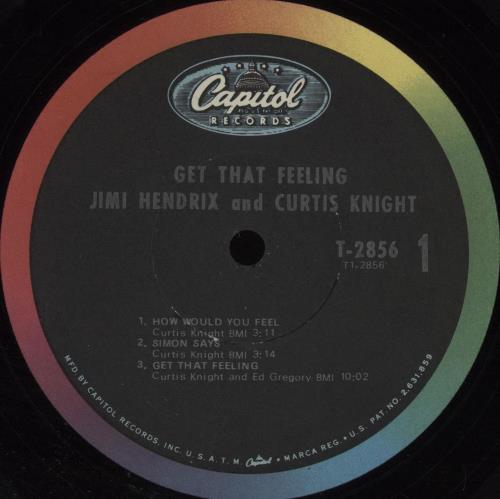 Jimi Hendrix Get That Feeling vinyl LP album (LP record) US HENLPGE356892