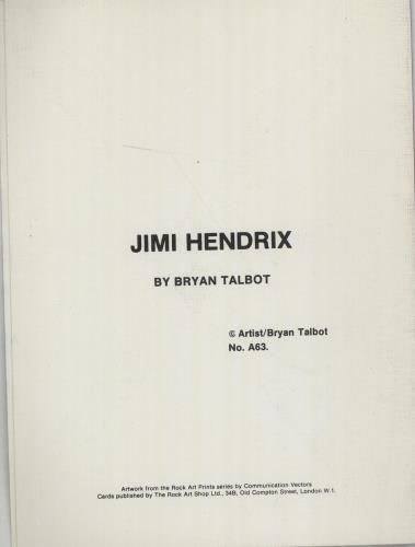 Jimi Hendrix Greeting Card memorabilia UK HENMMGR675379