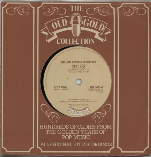 "Jimi Hendrix Hey! Joe 7"" vinyl single (7 inch record) UK HEN07HE647707"