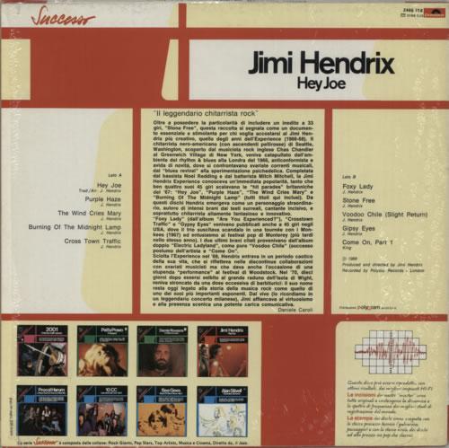 Jimi Hendrix Hey Joe vinyl LP album (LP record) Italian HENLPHE590268